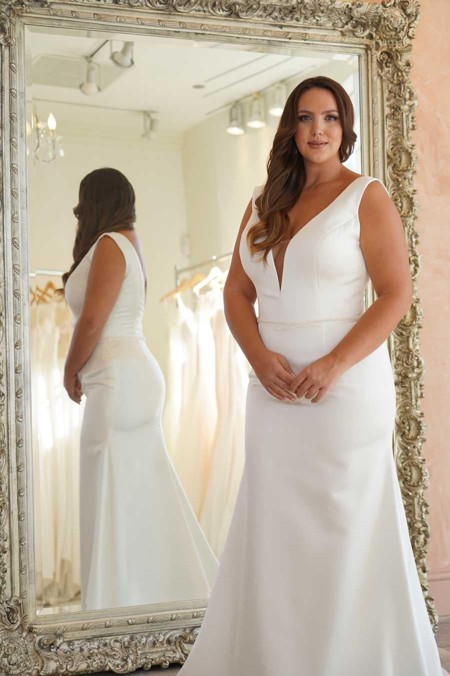 Plus Size Simple Wedding Dress